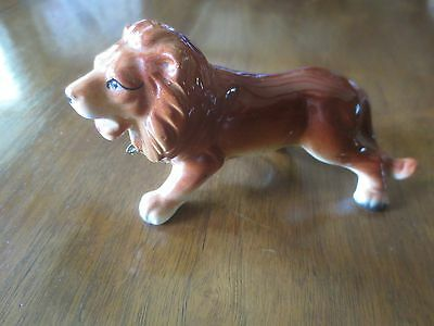 "Vintage China MALE LION FIGURINE - Made in Japan - 5"" x 2 1/2"""