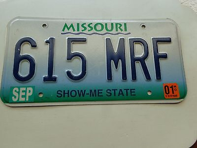 MISSOURI  license plate  (OVER THREE YEARS OLD)