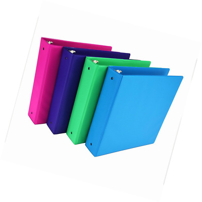 Samsill Fashion Color 3 Ring Storage Binder, 2 Inch Round Ring, 4 Pack Assorted