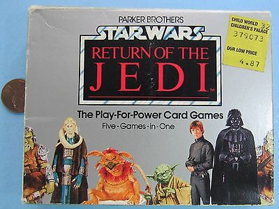 FIVE-IN-ONE CARD GAME SET '83 vtg Star Wars PLAY FOR POWER - ROTJ Parker Bros