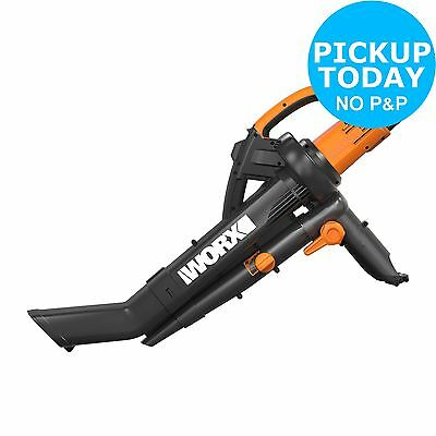 Worx WG505 TriVac Corded Electric Garden Blower and Vacuum - 3000W - From Argos