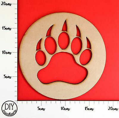 MDF Bear Paw - Wooden Craft Shape - DIY Decor for Adults and Kids