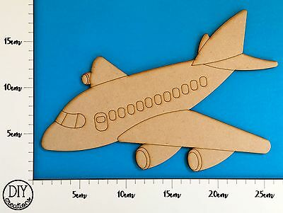MDF Aeroplane - Wooden Craft Shape - DIY Decor for Adults and Kids
