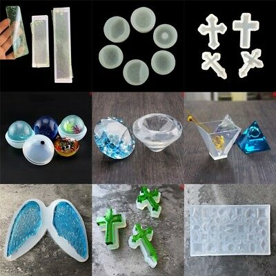 Silicone Clear Pendant Mold Making DIY Jewelry Pendant Resin Casting Mould