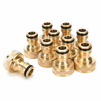 3/4 Brass Hose Tap Connector Threaded Garden Water Pipe Adaptor Fitting MALE