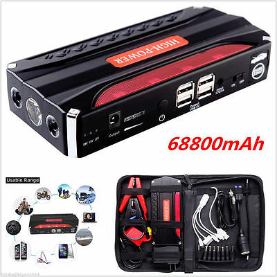 12V 68800mAh Auto Jump Starter Car Emergency Charger Battery Booster Power Bank