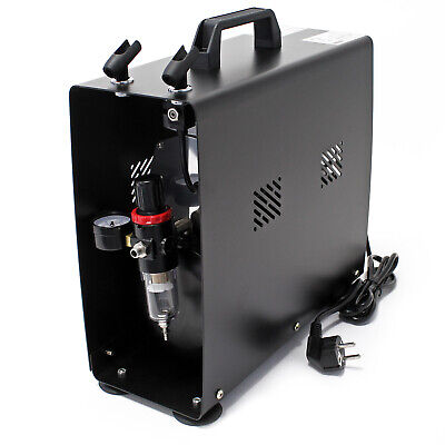 Airbrush Compressor AS 196A with Air Tank Twin Cylinder Two Step Switch