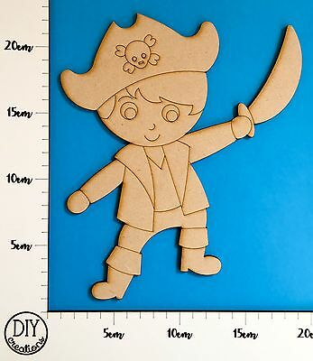MDF Pirate Captain - Wooden Craft Shape - DIY Decor for Adults and Kids