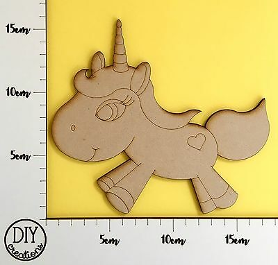 MDF Heart Unicorn - Wooden Craft Shape - DIY Decor for Adults and Kids