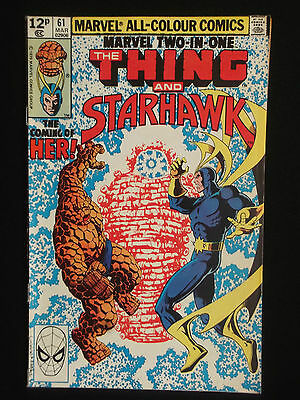 Marvel Two In One - The Thing And Starhawk - Issue 61 - 1979