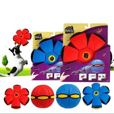 AU Magic Novelty Flying UFO Flat Throw Disc Ball Kids Toy Gift Outdoor Park Game