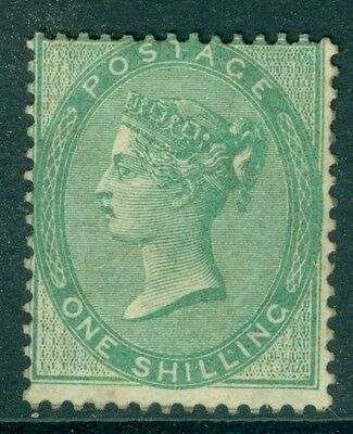 SG 71 1/- Deep Green fine mounted mint centred high & to left, A scarce stamp