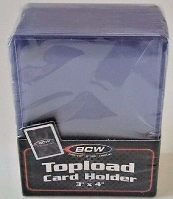 BCW Topload Card Holder Pack (25 ct) Sports/Gaming/Pokemon/Magic 3x4 Toploaders