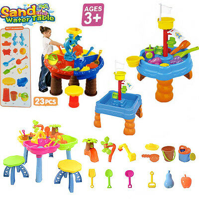 3 Style Sand & Water Table Watering Can & Spade Kids Outdoor Garden Sandpit Toy