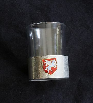 Airbourne Shot Glass Pewter Based Tot Round 50ml Military Gift BKG8