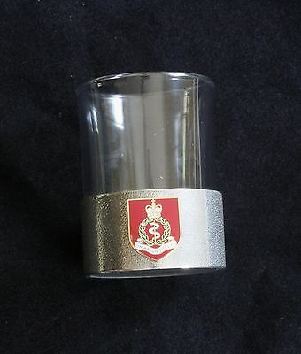 Royal Army Medical Corps Shot Glass Pewter Based Round 50ml Military Gift BKG9