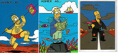 1996 Tempo, The Simpsons Downunder Trading Card Inserts:  Homer as ...