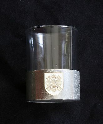 Highland Light Infantry Shot Glass Pewter Based Round 50ml Military Gift BKG23