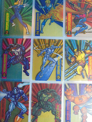 1994 Marvel Universe Suspended Animation insert cards