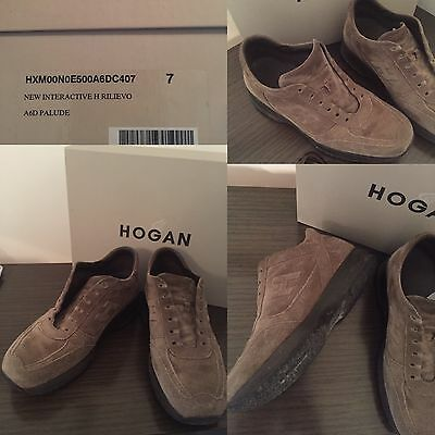 Uomo Scarpe Sneakers Hogan Interactive Vintage Rilievo Outlet
