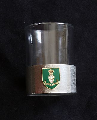 Green Howards Shot Glass Pewter Based Round 50ml Military Gift BK40
