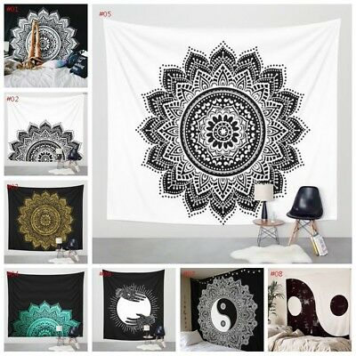 1pcs Indian Mandala Tapestry Hippie Wall Hanging Room Bedspread Mat Home Decor