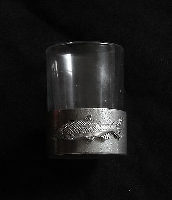 Barbel Shot Glass Pewter Based Round 50ml Fishing Gift