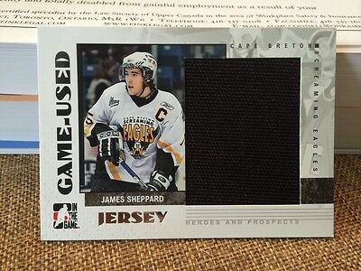2007-08 ITG Heroes And Prospects GU JSY #GUJ-26 James Sheppard