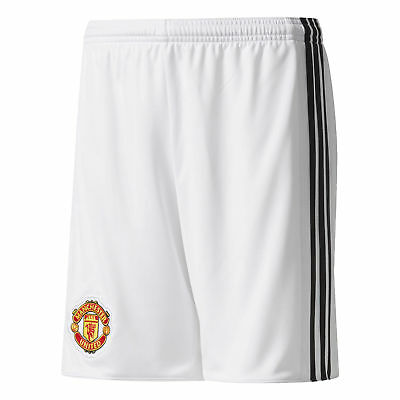 adidas Manchester United Home Shorts 2017-18 - Kids Boys Girls Football