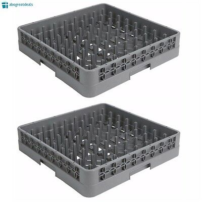2 PACK Full Size Commercial Restaurant Dishwasher Machine Cup Peg Tray Rack NEW