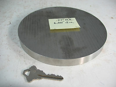 ".57"" Thick Round Circle Stainless Steel Disc, 6.00'' Dia., Cutoff Surplus"