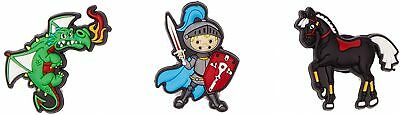 Jibbitz Unisex-Child The Brave Knight 3 Pc Pack Shoe Decoration Charms One Size