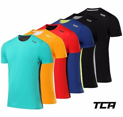 TCA Men's Swift Breathable Mesh Back Short Sleeve Running Gym Top T-Shirt Tee