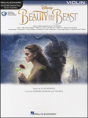 Beauty and the Beast Instrumental Play-Along for Violin Music Book/Audio Movie