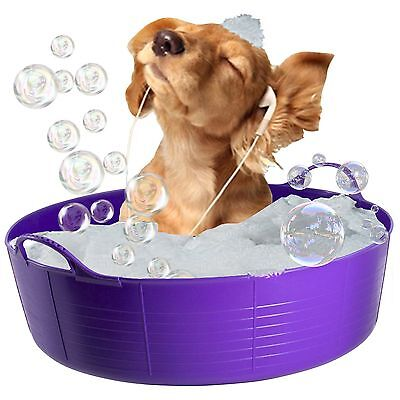 Purple Dog Bath, Dog Paddling Pool, Doggy Pool, Flexi Shallow 35L Tubtrug Pet