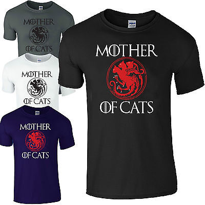 Mother Of Cats Game Of Thrones Comedy Ladies Loose Fit Casual T-Shirt