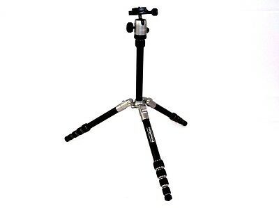 "Prima Photo Small Travel Kit 55.1"" Tripod with Ball Head - Silver"