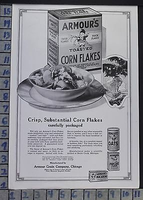 1920 Armour's Oats Cereal Battle Creek Kitchen Cook Food Vintage Ad  Ci04
