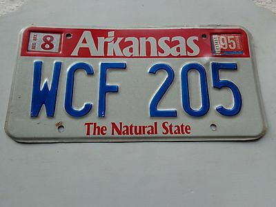 ARKANSAS  license plate  (OVER THREE YEARS OLD)