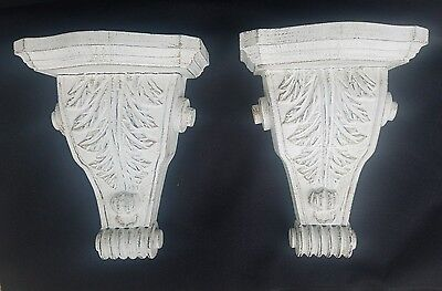 Corbels Bookends Pair Ornate Brackets Shabby Chic Decor