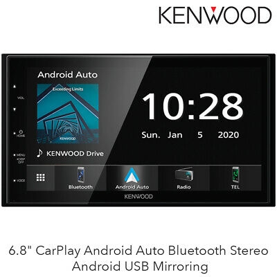 "Kenwood DNR4190DABS Mechless  6.2"" Touch Screen USB CarPlay Android Auto BNIB"