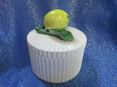 VINTAGE Fitz and Floyd trinket box with lemon