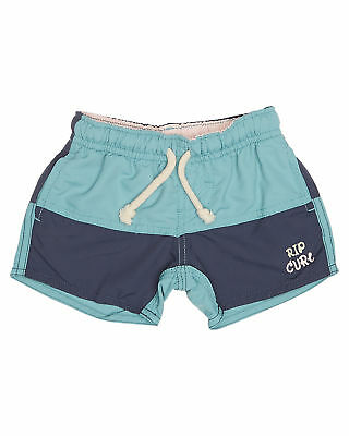 New Rip Curl Boys Tots Boys Smiley Volley Beach Short Polyamide Blue