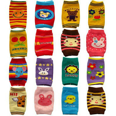 Pair of Baby Crawling Safety Knee Pads - Children Kids Leg Warmers Socks Protect