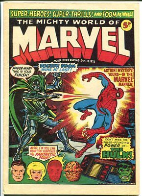 Mighty World Of Marvel #15 1973-Spider-Man-Hulk-Fantastic Four-Kirby-Uk Comic Fn
