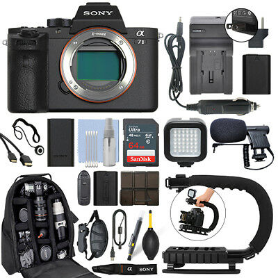 Sony Alpha a7 II Mirrorless 24.3MP Digital Camera Body + 64GB Pro Video Kit