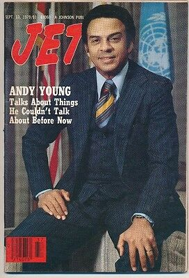 JET MAGAZINE 9/13/1979 ANDREW YOUNG TALKS Eddie Carthan mayor locked out NO LABL