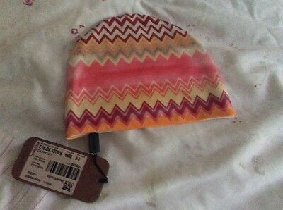 Harrods Missoni pink Zigzag baby hat - new - rrp £62!