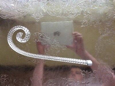 12 Inch Victorian Glass Epergne Cane Twisted 3 Available
