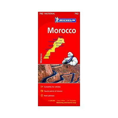 Morocco National Map 742 by .